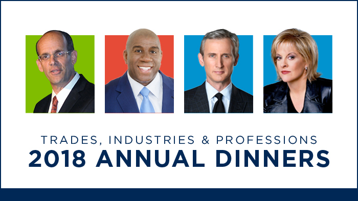 Trades, Industries & Professions 2018 Annual Dinners