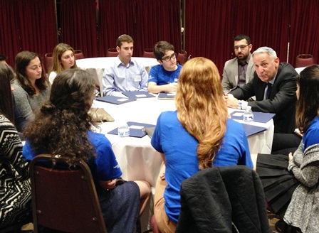 Eric Fingerhut with Write On for Israel Students