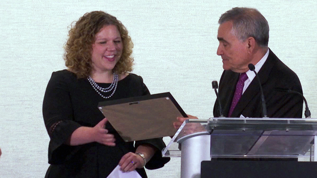 Julie Brodsky receives the 2017 Samuel A. Goldsmith Award