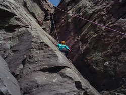 Rappelling at Devils Lake
