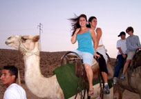 Teens Israel on Camel