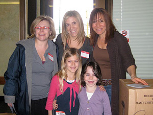 Robin Grant and Jill Kolker pose with Brooke and Sydney