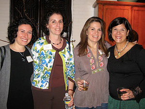Carolyn Aberman, Jeanette Garber Zemsky and Liz Brodsky with Miriam Lichstein