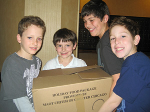 Boys with Box