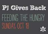 PJ Gives Back: Feeding the Hungry button